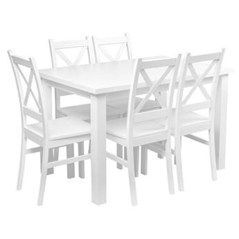 Stół + 5 Krzeseł do Kuchni Jadalni 120x80