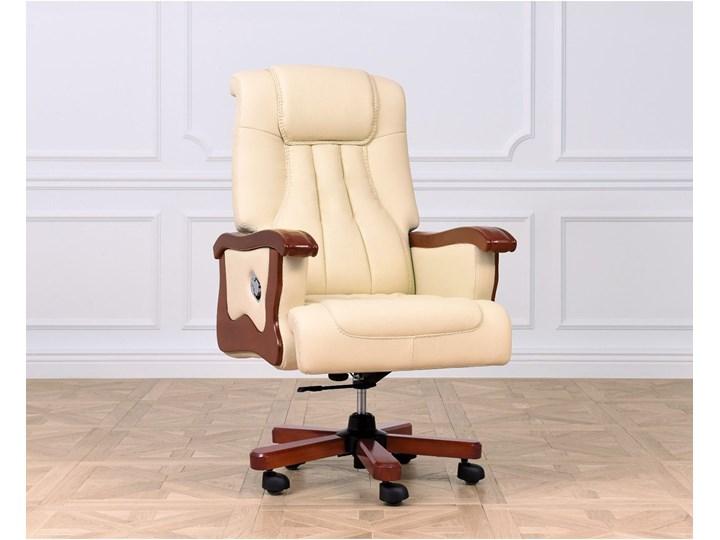 Fotel skórzany Prestige, kremowy