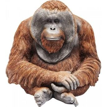 Figurka dekoracyjna Orangutan Medium 33x34 cm brązowa