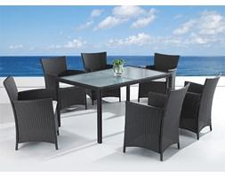 Meble ogrodowe rattan ogród patio weranda 6 krzesel 150cm ITALY