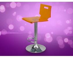 Krzeslo barowe do barku strefy wypoczynku biuro NEON pomaranczowy