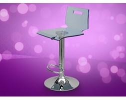 Wysokie krzeslo barowe z pleksiglasu hoker NEON niebieskie