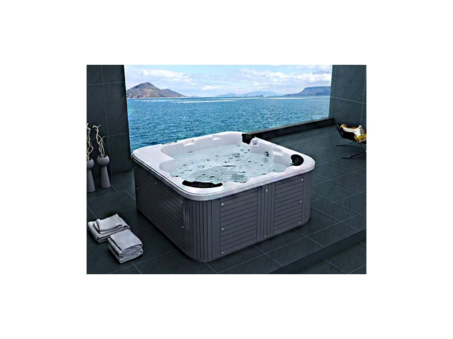 zewnetrzne spa jacuzzi akryl i drewno kolor srebrny. Black Bedroom Furniture Sets. Home Design Ideas