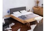 Podwójne lózko drewniane ze stelazem 180x200 cm, szare ARRAS