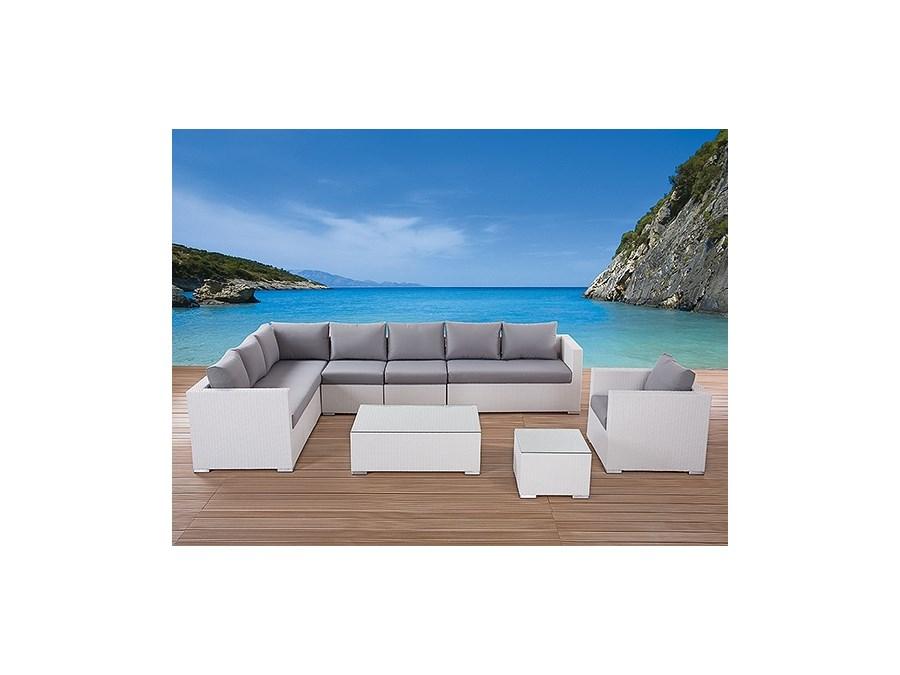 Meble Ogrodowe Zestaw Modena Lounge Set : Rattanowy zestaw mebli ogrodowych 23 czesci rozmiar XXL biale