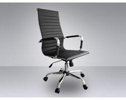 Fotel krzeslo biurowe skórzane fotel obrotowy kolor czarny OXFORD