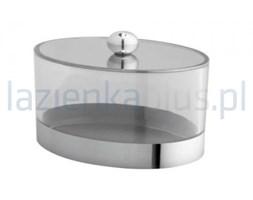 Pojemnik kosmetyczny stojący z pokrywką chrom Bisk Side 60604