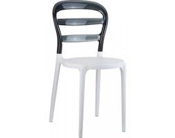 D2 Miss Krzesło Mis Bibi white/black transp. - Miss Bibi biały/czar.