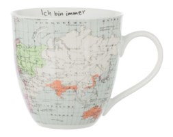 Dekoria Kubek WORLD MAP 600 ml