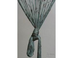 Dekoria Zasłona sznurkowa z węzłami brązowo-turkusowa