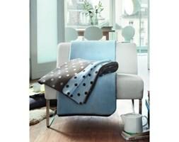 Dekoria Koc Paris french dots 150x200cm groszki brązowo niebieskie