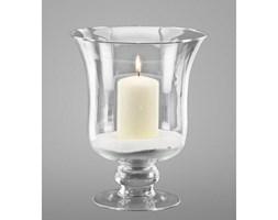 Dekoria Świecznik szklany z piaskiem i świecą 24cm