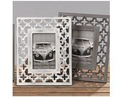 Dekoria Ramka foto Orient stojąca drewniana ażurowa 22x27cm biała