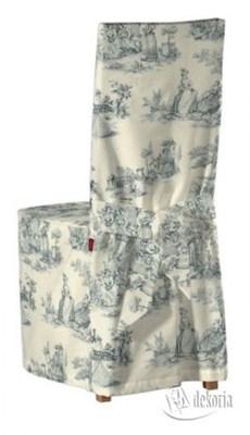 Dekoria Sukienka na krzesło Borje z wiązaniami Avinion 132-66