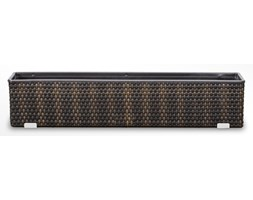 Kwietnik balkonowy technorattanowy 780x160x210mm z wkładem plastikowym jasny/ciemny brąz