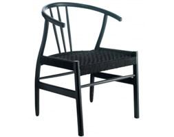 Krzesło z oparciem, czarne