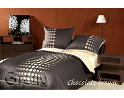 Komplet pościeli satynowej XQ Chocolate brown 160x200