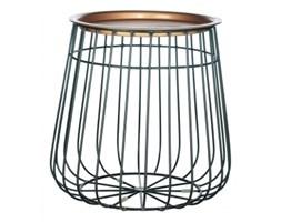 Metalowy stolik z tacą