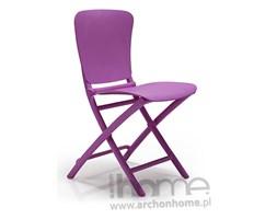 Krzesło Zac fioletowe składane