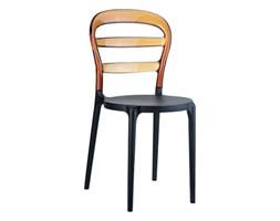 Krzesło Miss Bibi czarno-bursztynowe