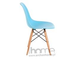 Krzesło Socrates błękitne, drewniane nogi, archonhome.pl