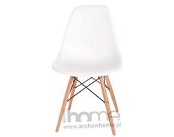 Krzesło Socrates białe, drewniane nogi