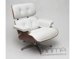 Fotel obrotowy Vip biały, orzech włoski - inspirowany Lounge Chair