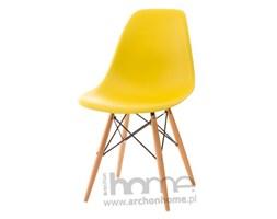 Krzesło Socrates żółte drewniane nogi