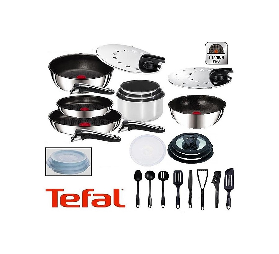 zestaw garnk w tefal ingenio inox gourmet indukcja 26 cz ci zestawy garnk w i patelni. Black Bedroom Furniture Sets. Home Design Ideas
