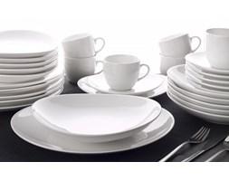 Serwis obiadowo-kawowy OXFORD LOOP WHITE na 6 osób (30 el.)