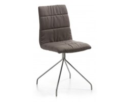 Krzesło Larina1 Dark Brown Stainless Steel