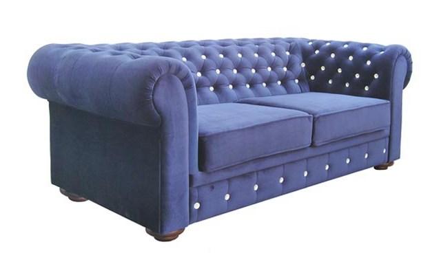 Niewiarygodnie Sofa Chesterfield w stylu GLAMOUR z funkcją spania - Sofy i kanapy MF32