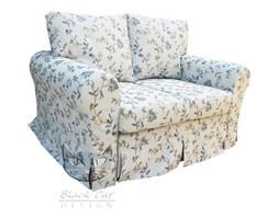 Sofa Flower rozkładana do malego pokoju, fartuchowiec w kwiaty