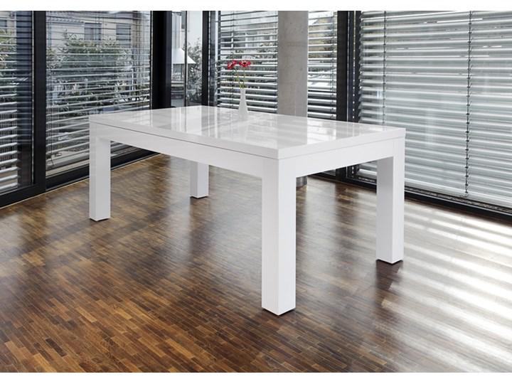 Machina Meble Luke Stół Rozkładany Biały Lakier Wysoki Połysk 180