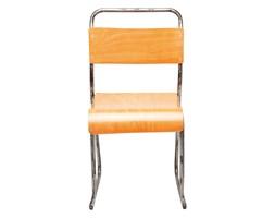 Kare Design School Chrome/Wood Krzesło - 78293