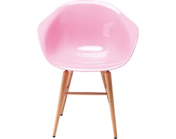 Kare Design Forum Wood Krzesło Różowe Drewno/Plastik - 78665