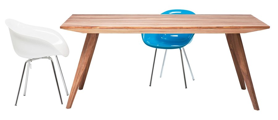 Kare Design Valencia Designerski Drewniany St 160x80cm Drewno Palisander Naturalne 78117