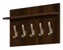 Wieszak naścienny krótki z półką drewnianą SLIM