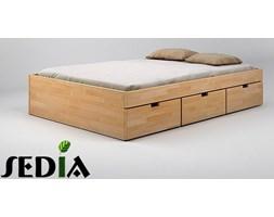 Łóżko drewniane - Turkus