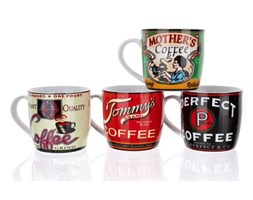 Kubek Retro Coffee różne wzory