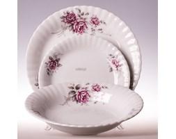 porcelanowy zestaw 18 talerzy dla 6 osób