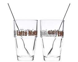 Leonardo Solo szklanki do latte z łyżeczkami, 2 szt 042555