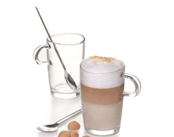 Leonardo Loop szklanki do latte z łyżeczkami, 2 szt 043377