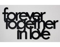 Napis na ścianę FOREVER TOGETHER IN LOVE czarny
