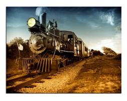 Obraz na płótnie OMO021_11 - Amerykańska lokomotywa