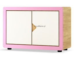 Kredens dwudrzwiowy - Timoore - Frame Natural Pink