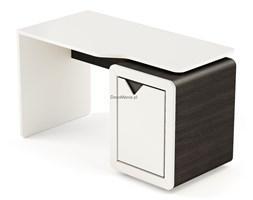 Biurko z kontenerkiem - Timoore - Frame Design Krem