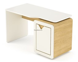 Biurko z kontenerkiem - Timoore - Frame Natural Krem