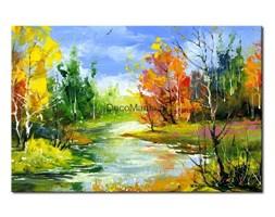 Obraz na płótnie OML076_11 - Krajobraz z kolorowymi drzewami