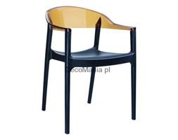 Krzesło - Siesta - Carmen - czarno/bursztynowe